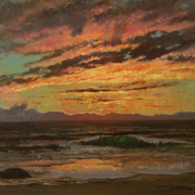 BRIDGMAN: Brittany Sunset, 1873