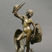 MacMONNIES: Young Faun with Heron, 1890