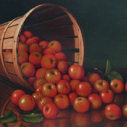 PRENTICE: Still Life - Apples in a Basket, c. 1890