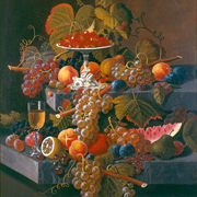 ROESEN: Fruit Composition with Tazza of Strawberries, c. 1860